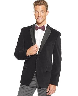 Tallia - Diamond Velvet Slim-Fit Sport Coat