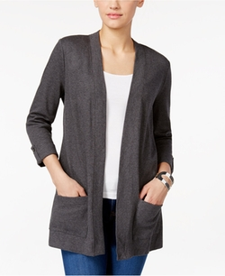 Karen Scott  - Open-Front Cardigan