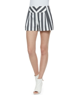 Sass & Bide  - Corners Striped Chambray Shorts