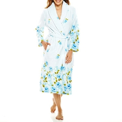 Adonna  - Long-Sleeve Border Print Robe
