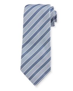 Isaia  - Rep-Striped Silk Tie