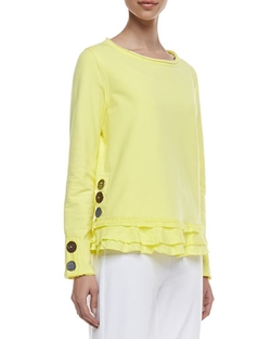 Neon Buddha - Cape Side Ruffled-Hem Pullover