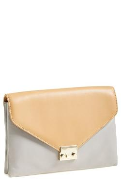 Loeffler Randall  - Lock Leather Clutch Bag