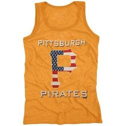 Fanatics - Majestic Threads Pittsburgh Pirates Stars & Stripes Tri-Blend Tank Top