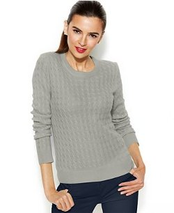 Charter Club  - Cable-Knit Cashmere Sweater