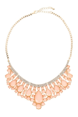 Eye Candy Los Angeles - Sea Foam Statement Necklace