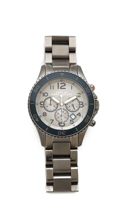 Marc Jacobs  - Rock Chronograph Watch with Steel Bracelet