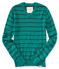 Aeropostale  - Mens Striped V-Neck Sweater