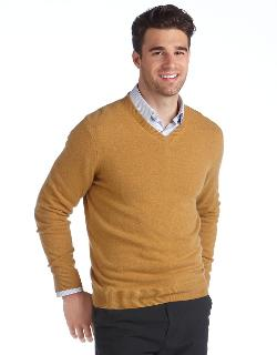 BLACK BROWN 1826  - Cashmere V-Neck Sweater