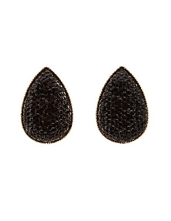 Charlotte Russe - Rhinestone Teardrop Stud Earrings