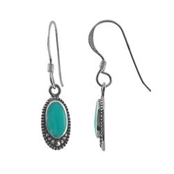 Kohls - Turquoise & Marcasite Drop Earrings