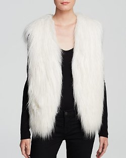 Guess - Draped Faux Fur Vest