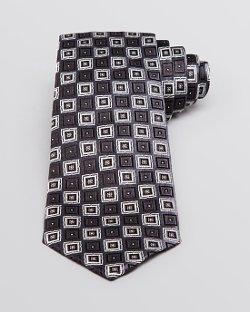 Armani Collezioni  - Square Pattern Classic Tie