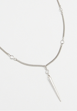 Lacey Ryan Collection - Silvertone Spike Necklace