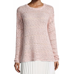 Neiman Marcus - Foil-Print Sweater