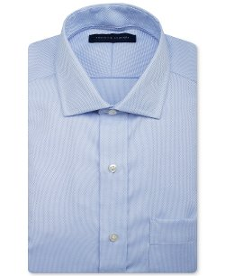 Tommy Hilfiger  - Non-Iron Solid Dress Shirt