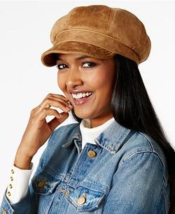 Nine West - Faux Suede Newsgirl Hat