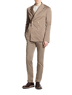 Atelier Scotch  - Slim-Fit Double-Breasted Stretch Cotton Suit