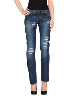Express - Dark Distressed Mid Rise Jeans