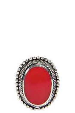 Boohoo Night - Sarah Engraved Statement Stone Ring