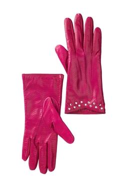 Portolano - Leather Rhinestone Gloves