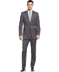 Tommy Hilfiger - Medium Grey Solid Classic-Fit Suit