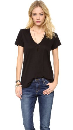 Splendid  - Very Light Jersey V Neck Tee