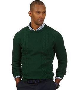 Nautica  - Crew-Neck Fishermen Sweater