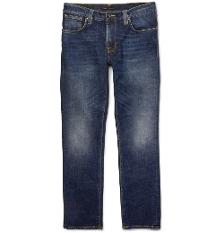 Nudie Jeans - Slim-Fit Washed-Denim Jeans