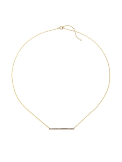 EF Collection - Champagne Diamond Bar Necklace