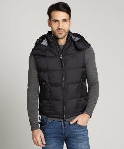 BURBERRY  - Black Down Filled Puffer Hooded Vest
