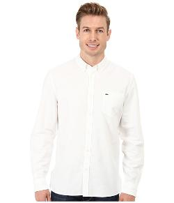 Lacoste  - Washed Oxford Solid Woven Shirt