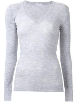Scanlan Theodore - Fine Knit V-Neck Sweater
