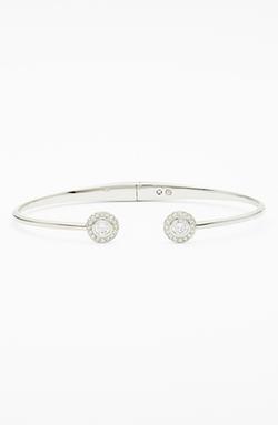 Nadri  - Framed Crystal Skinny Cuff Bracelet