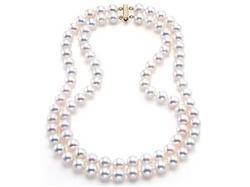 Japanese Akoya  - Saltwater Two-Strand Pearl Necklace