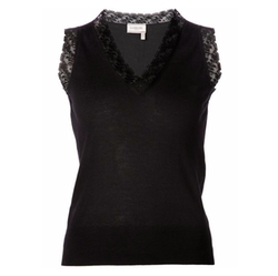 Lanvin - Lace Detail Sleeveless Top