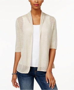 Charter Club - Pointelle Open-Front Cardigan