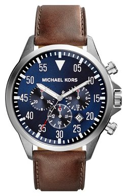 Michael Kors - Chronograph Leather Strap Watch