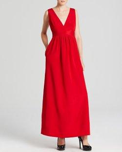 Jill Jill Stuart  - Deep Double V Crepe Gown