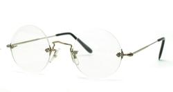 Savile Row - Diaflex Round Rimless Eyeglasses