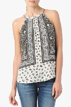 7 For All Mankind - Back Tie Tank In Scarf Print
