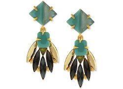 Vince Camuto  - Gold-Tone Multicolor Stone Cluster Drop Earrings
