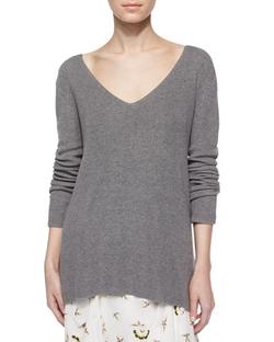 A.L.C.  - Ty Long-Sleeve V-Back Sweater