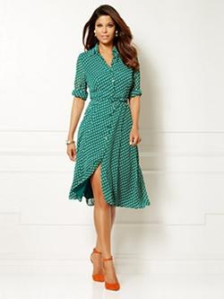 Eva Mendes Collection - Polka Dot Pia Shirtdress