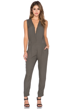 Michael Stars - Sleeveless Zip Up Jumpsuit