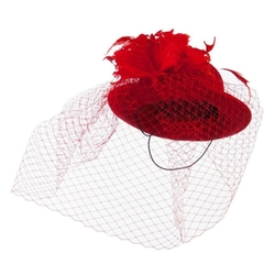 SS/Hat  - Mini Wool Bowler Fascinator Hat