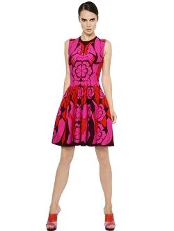 Alexander Mcqueen - Floral Viscose Blend Jacquard Dress