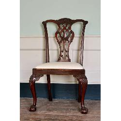 LASSCO Lapada - Set of eight George III style dining chairs