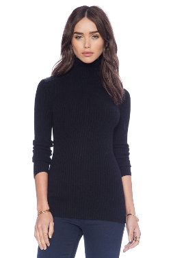 Autumn Cashmere - Rib Turtle Neck