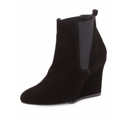 Lanvin - Suede Wedge Chelsea Boots